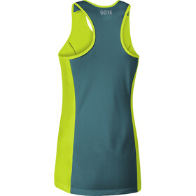 GORE WEAR R7 Ärmelloses Top Damen citrus green/dark nordic blue